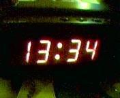 Clock display