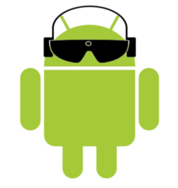 ac9e232740 Blind android wearing The vOICe with Android smart glasses and stereo  headphones