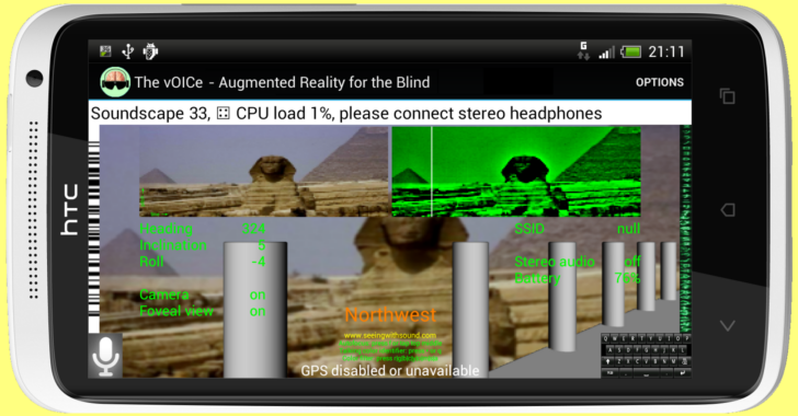 Augmented Reality for the Blind? There's an app for that: The vOICe